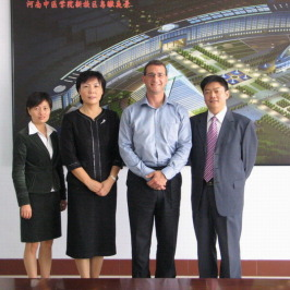Dr. Ferrin Visits Henan University of Traditional Chinese Medicine