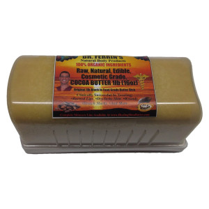 Dr. Ferrin's Authentic, Fair Trade, Edible, Raw, Natural, Pure Organic COCOA BUTTER